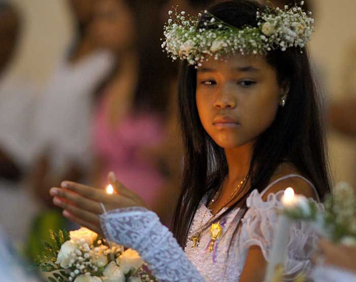 Holy Communion in Cartagena