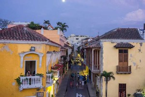 Cartagena Street at night