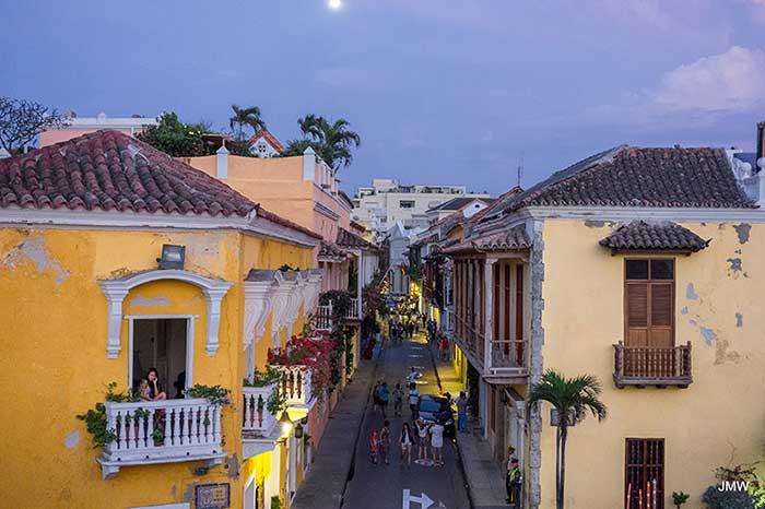Cartagena Street at night
