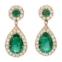 Emerald Ear Rings