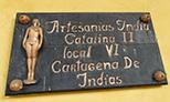 Artisan  Plaque Las Bóvedas (The Vaults) in Cartagena