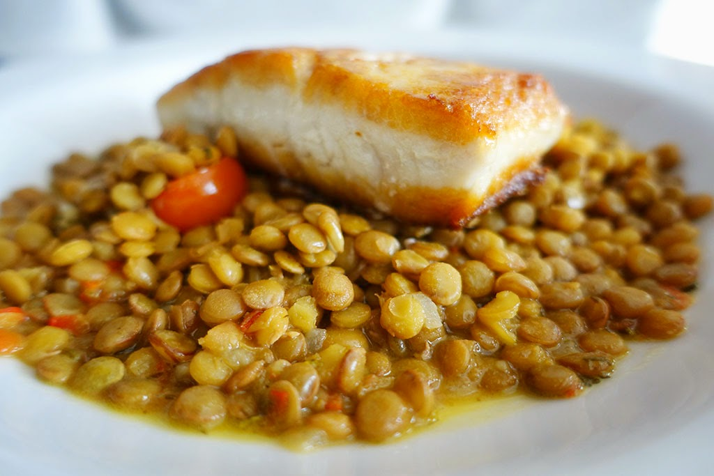Fish and Lentils