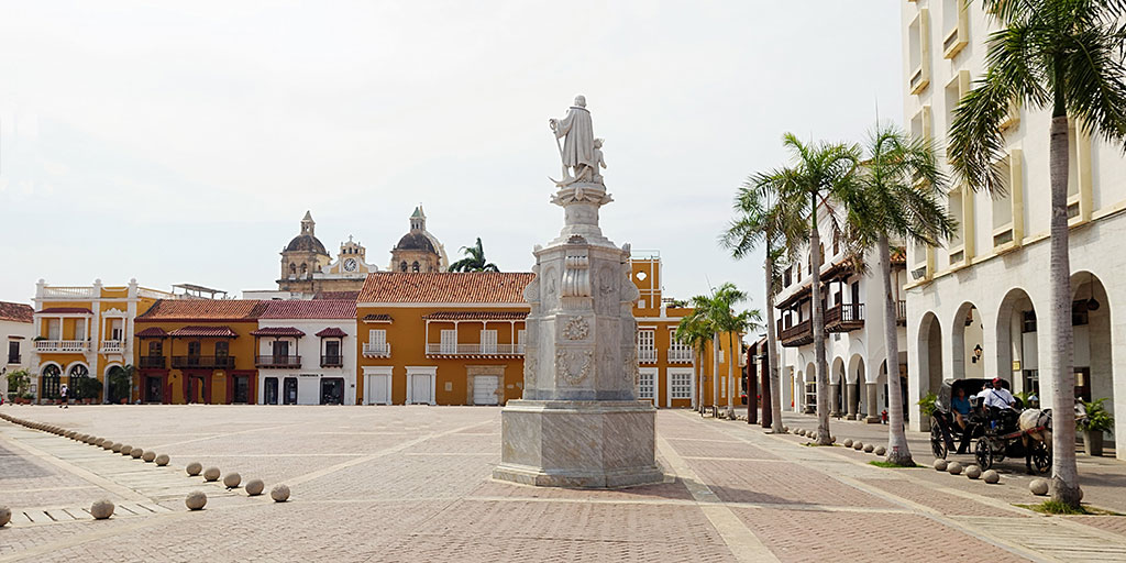 Plaza De La Aduana In Cartagena