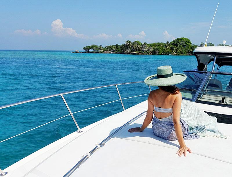 Martha Hampton Boating in the Rosario Islands
