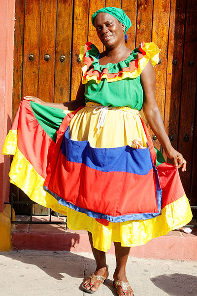 Palenquera Fruit Seller in Cartagena